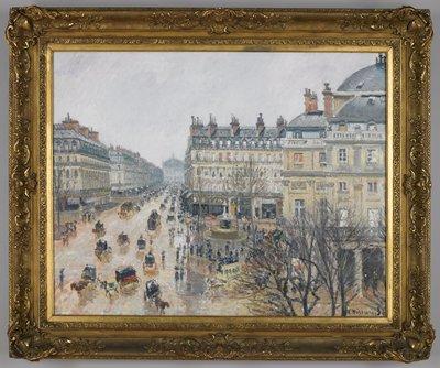 La Place du Théâtre Français (Pluie)