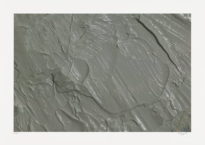abstract image; textured gray pigment