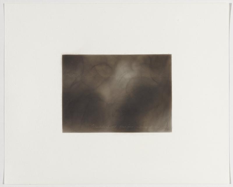 smoky grey background; white zigzagging line with short peaks