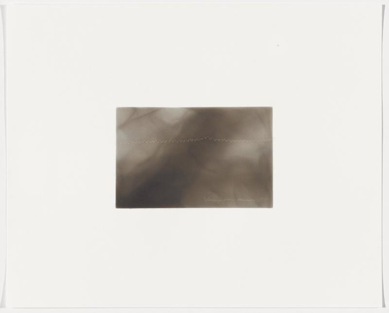 smokey grey ground; wavy white line