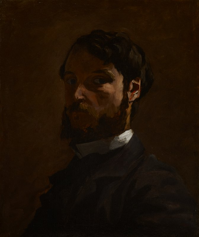 Portrait of a man; self portrait of Jean-Frédéric Bazille