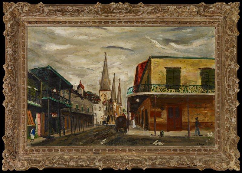 Urban landscape depicting a street corner.