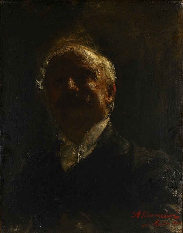 Self-portrait of Antonio Mancini