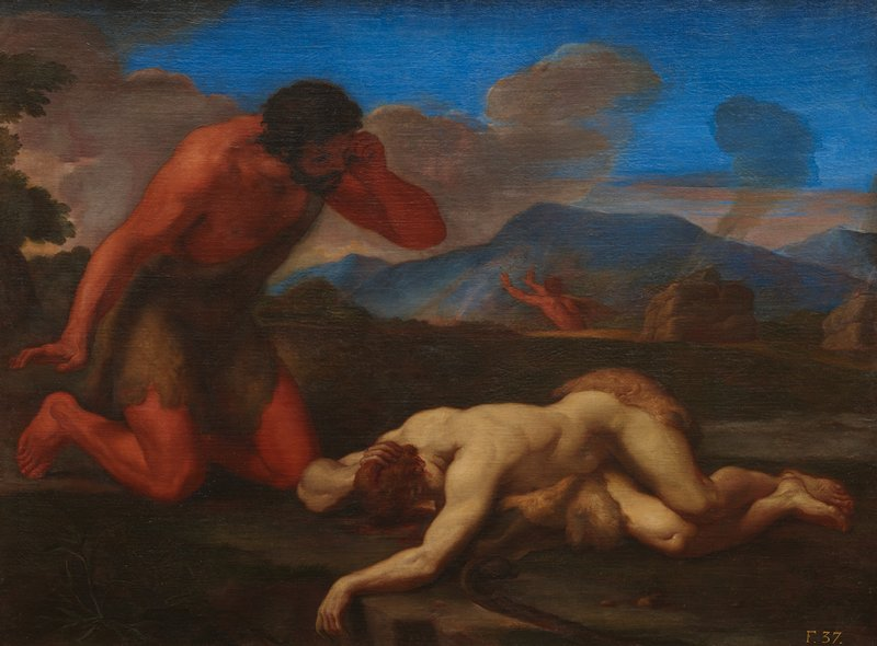 Religious Old Testament Adam Discovering the Body of Abel