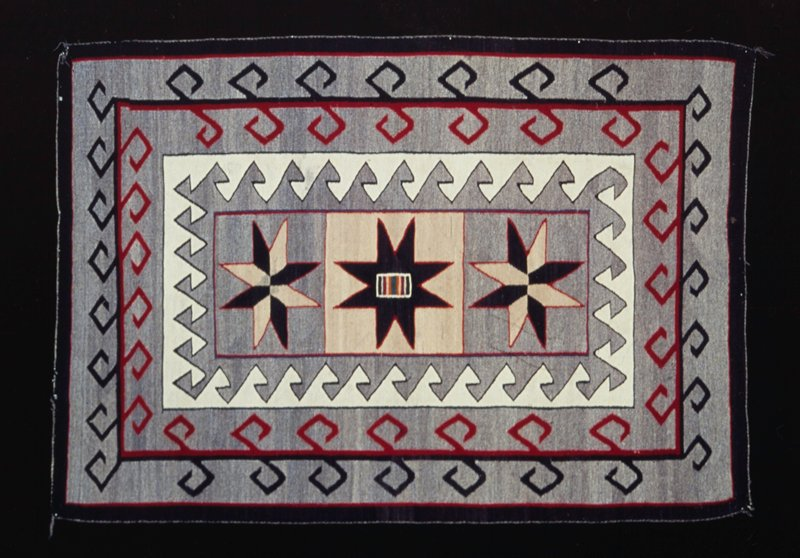 rug, woven wool; Arizona, Indian School at Phoenix