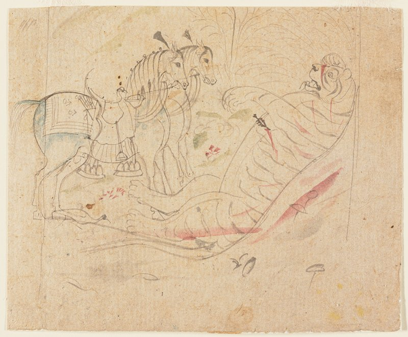 illustration from a Ramayana series; Kishangarh