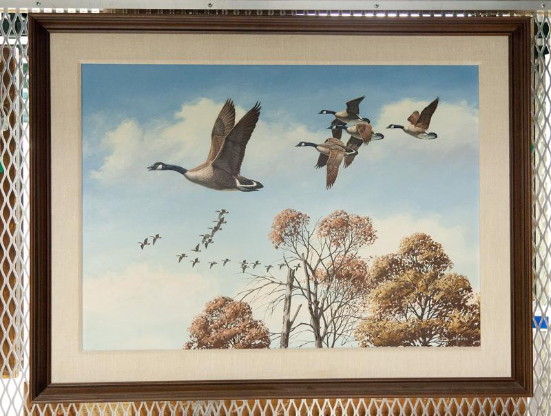 Animal. Bird. Fowl. See other paintings in this series by Maass, 81.48.1-4.