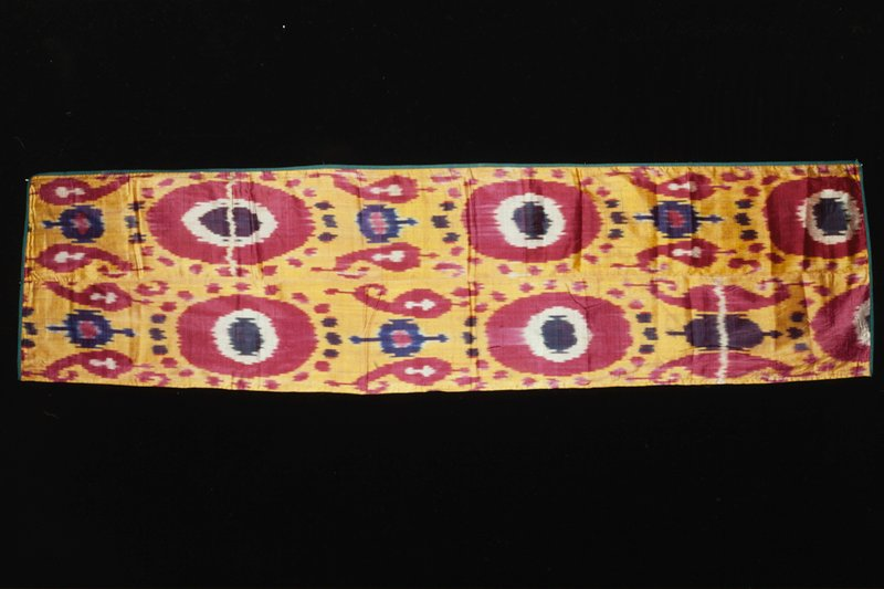 panel, silk, lined with cotton, ikat dyed.