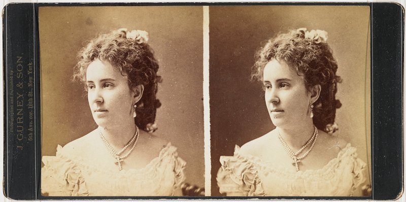 American actress; from wet plate negative