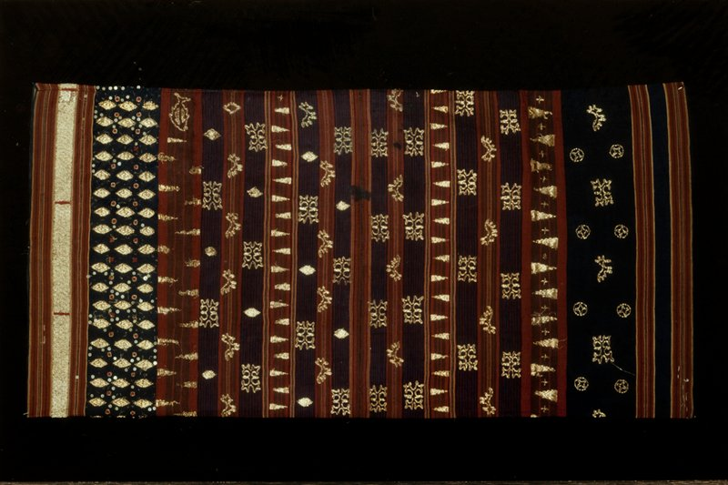 cotton with couched gold thread embroidery
