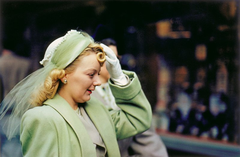 woman in green, Chicago