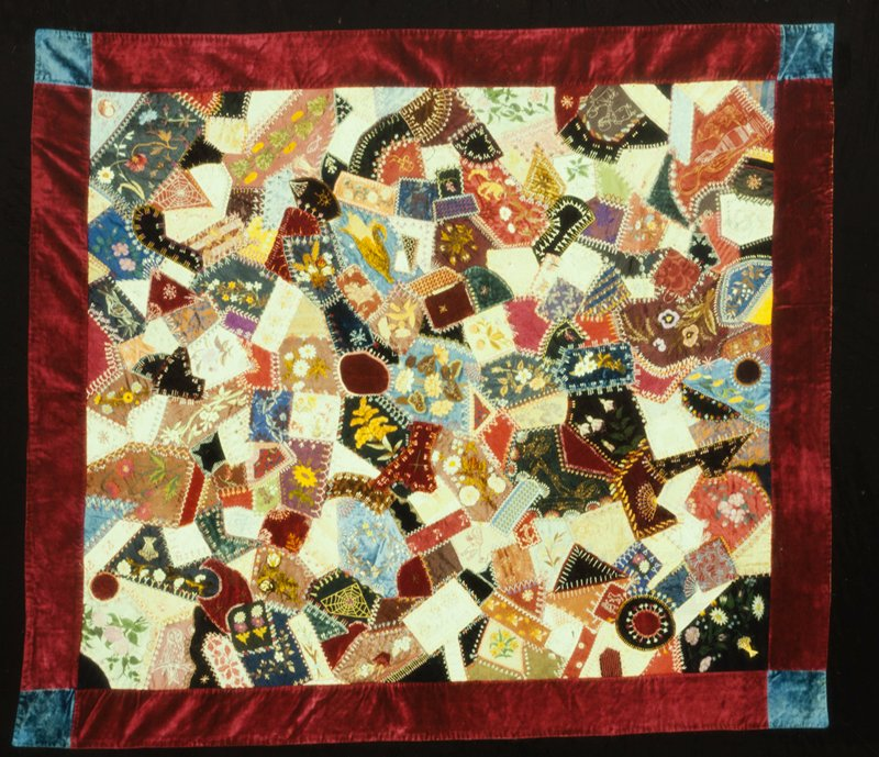 names in the quilt include Katie, born 1881, Jennie's daughter from her first marriage; Annie, the faithful hired girl in the McMurtrie household in Chicago; and GRM- the initials of George R. Moore who was engaged to marry Jennie at the time the quilt was made; the women are the great-grandmother and grandmother of the donor