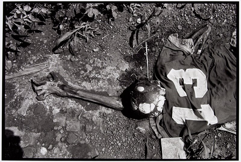 skeleton in sports jersey with number 13