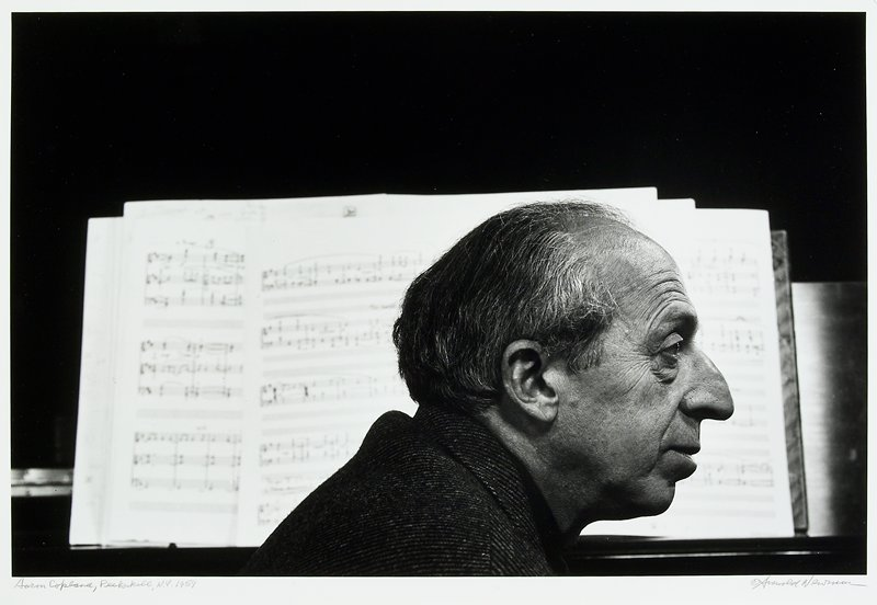 profile of man's face; sheet music immediately behind him