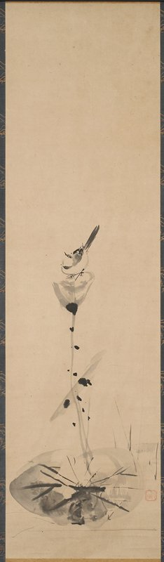 triptych; right hanging scroll; Hill # R-19