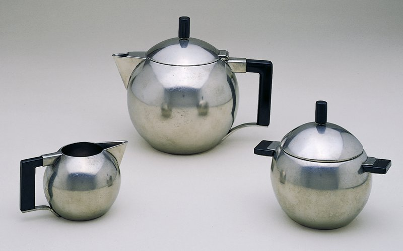 Spherical with black handle