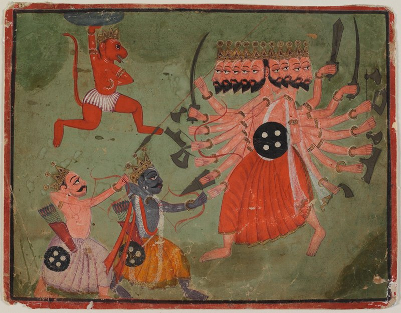 illustration from a 'Ramayana' series