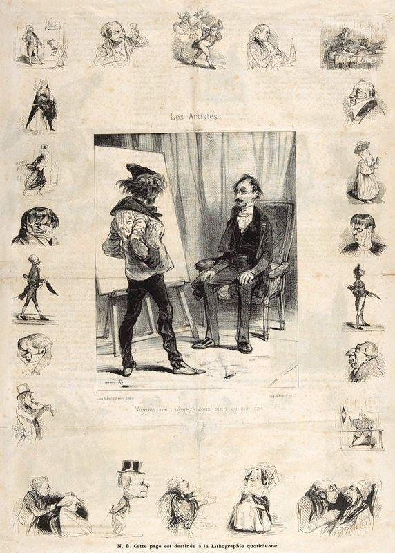 Marginal figures by Daumier?