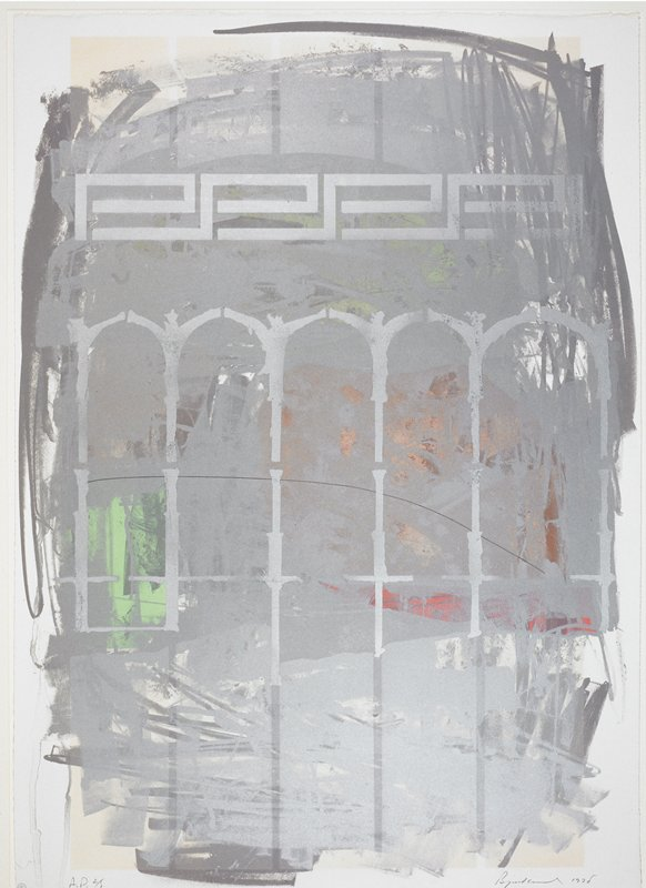 """Number 15 from a portfolio of 15 prints by 15 artists commissioned by Northwestsern National Bank, Minneapolis, as part of an exhibition """"Portfolio 15: An exhibition by Minnesota Artists,"""" held in November 1978 at Northwestern National Bank."""