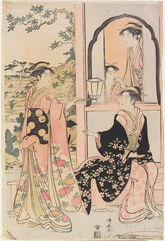 center sheet of a triptych