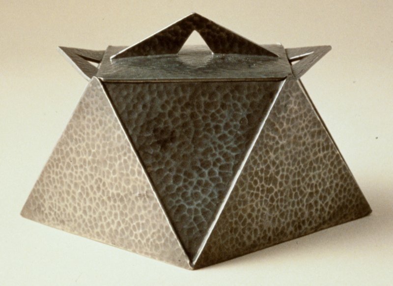 Hammered pewter in a modern form