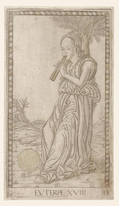 Engraving (paperlaid), traces of red color and touches of gold.
