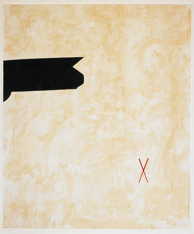 From a portfolio of six prints by six artists, commissioned by First Bank, Minneapolis. Moskowitz's print is based on a 1975 painting of the same title, now in the collection of the Museum of Contemporary Art, Los Angeles.