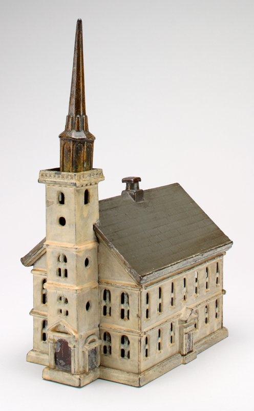 white, gold and gray church