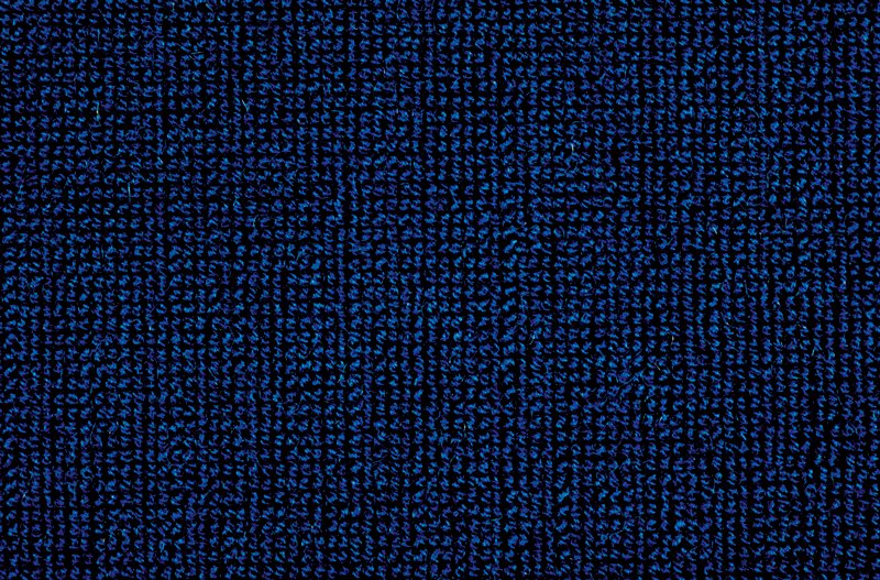 Frieze with all wool face. Blue uncut? wool pile with cotton back. Blueberry