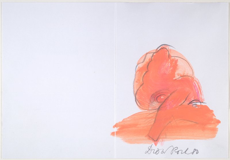"""Drawing from the artist's book """"Smaller Works, Part One"""" (see B.80.27)"""